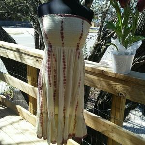 India Boutique sundress/beach cover up w pockets!